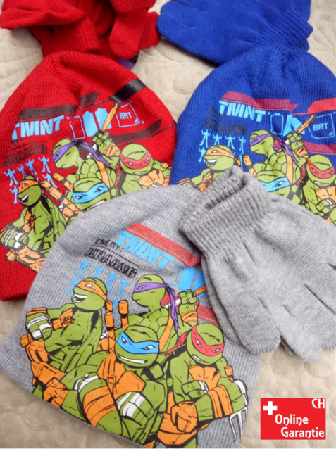 CHF 22.00 Teenage Mutant Ninja Turtles TMNT Mütze Beanie Cap Kappe und Handschuhe Set