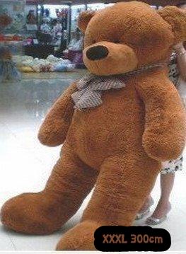 Riesengrosser Teddybär gigantischer Riesen Teddy Teddybär Plüsch Bär Plüschbär Plüschteddy Bärchen Ted 300cm 3m XXL XXXL Geschenk Kind Kinder Frau Freundin Dunkelbraun Hingucker Gigantisch Extrem