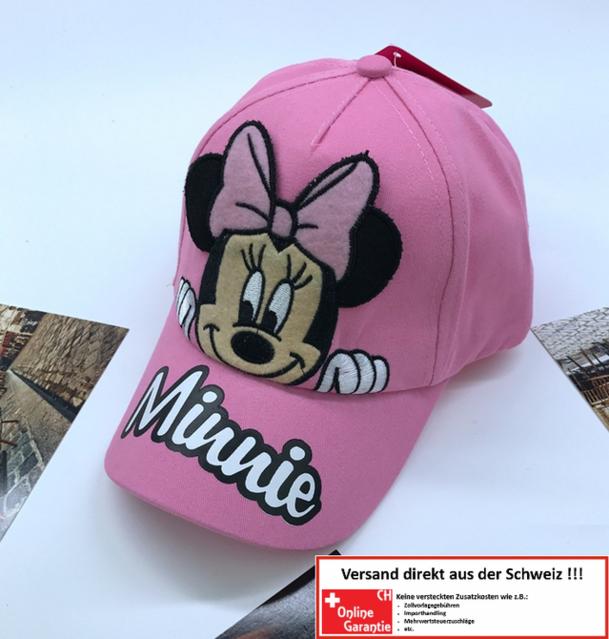Disney Minnie Maus Mouse Baseball Cap Kappe Mütze für Kinder Mädchen Girl Pink Rosa Prinzessin Baumwolle