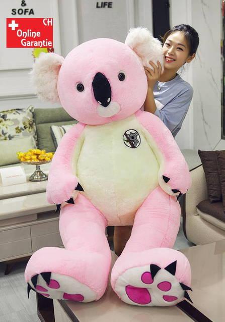 Koala Plüsch Plüschkoala Plüschtier XXL 140cm 1.4m 2 Farben Grau oder Pink Rosa Geschenk Kind Kinder Mädchen Junge Weihnachten