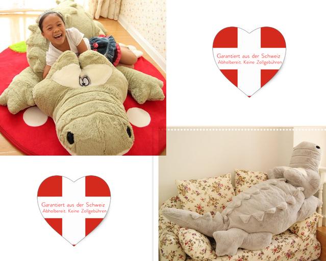 Krokodil Alligator 200cm XXL Plüsch Plüschtier Geschenk Kinder Frau - Kinder & Familie