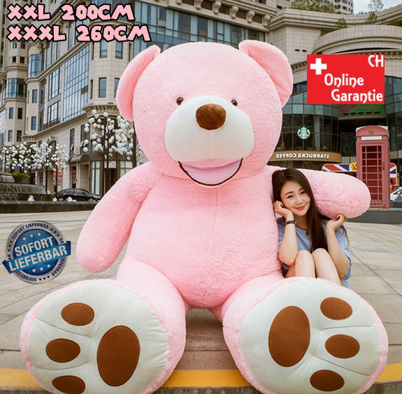 Mega XXL Riesen Teddybär Plüschbär Kuschelbär Plüsch Kuscheltier Pink Ted Rosa Geschenk Mädchen Frau Freundin Weihnachten
