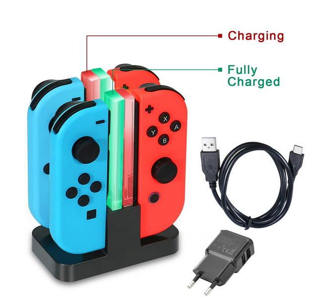 Nintendo Switch Controller Ladegerät Joy-Con Ladestation Led