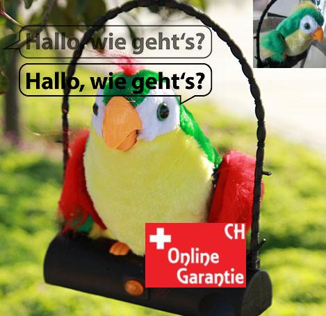 Papagei Spielzeug mit Soundeffekt spricht alles nach Plüschtier Geschenk für Kind Erwachsene