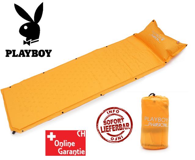 Playboy Physical Schlafmatte Schlaf Matratze Schlafsack Festival Openair Camping Neu Orange Hingucker