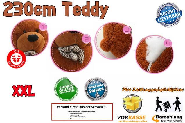 Riesen Mega XXL Plüschbär Plüschteddy Plüsch Bär Teddy 230cm Geschenk