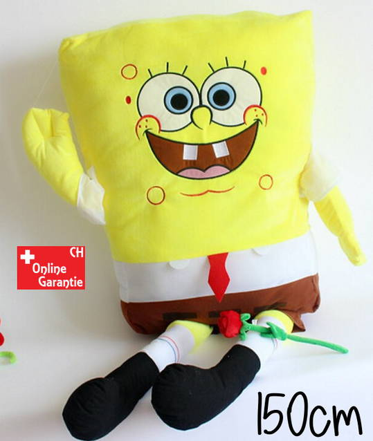 Spongebob Schwammkopf XXL 150cm Plüsch Plüschtier Bob Geschenk - Kinder & Familie