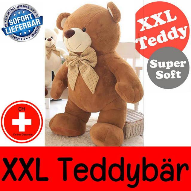 Teddy Plüsch Teddybär Tedi XXL Plüschtier Kuscheltier 2.1m Kinder Frau Valentinstag Weihnachten Schweiz