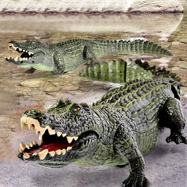 Ferngesteuertes Krokodil Alligator RC Spielzeug mit Controller Kinder Kind 45cm