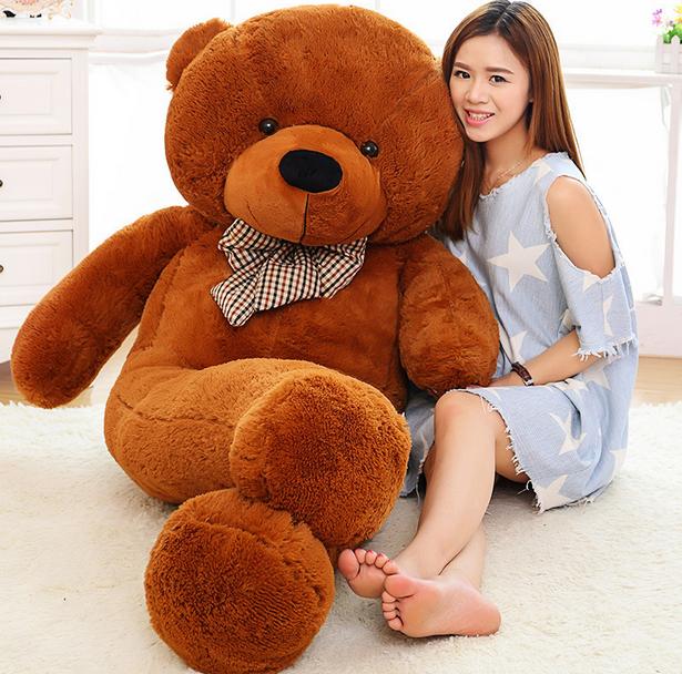 2 Meter Teddy XXL Teddybär mit 200 cm Plüschtier Plüschbär Bär Ted Teddy Geschenk Frau Kind Kinder Dunkelbraun