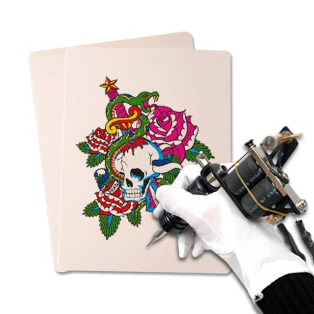 20er Set Tattoo Tätowierung Übungshaut Übungshäute Kunst Kunsthaut Üben Training Anfänger Profi Schweinehaut