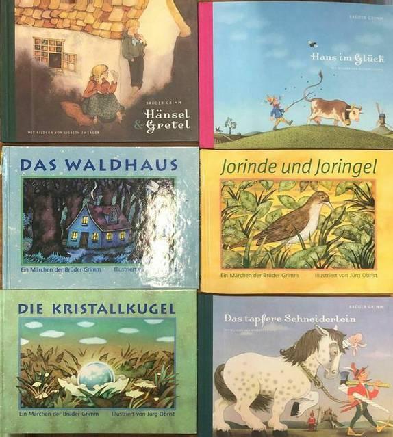 6 Märchen der Brüder Grimm (selten)
