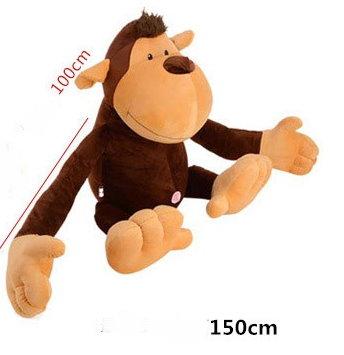 Affe Plüschaffe Monkey Plüsch XXL Plüschtier XXXL Kuschelaffe Äffchen 150cm 1.5m Geschenk Geburtstag Kind Kinder Frau Freundin