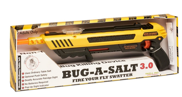 Anti Fliegen Gewehr Bug-A-Salt Angriff auf die Insekten BUG-A-SALT 3.0 Salz Gewehr Flinte Salzgewehr Fliege USA Hit neueste Version 3 3.0 Schweiz Online