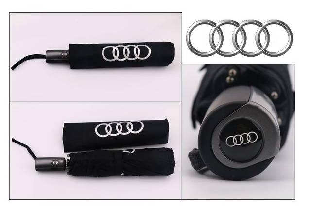 Audi Fan Regenschirm Regen Schirm Taschenschirm Schwarz Fan