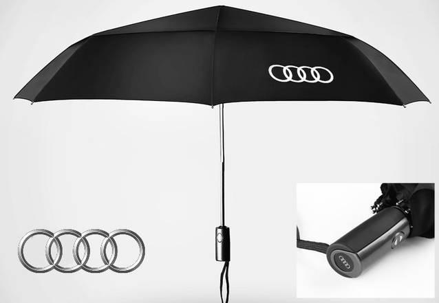 Audi Regenschirm Taschenschirm Fan Fanartikel Accessoir für Auto