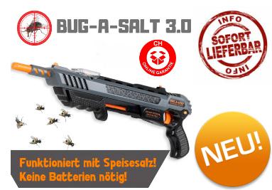 BUG-A-SALT 3.0 BLACK FLY EDITION Flinte Fliegen Jagd Fliegenkiller Salz Gewehr Schrotflinte Salzgewehr gegen Insekten Fliegenklatsche Luftdruckpistole Gadget Sommer