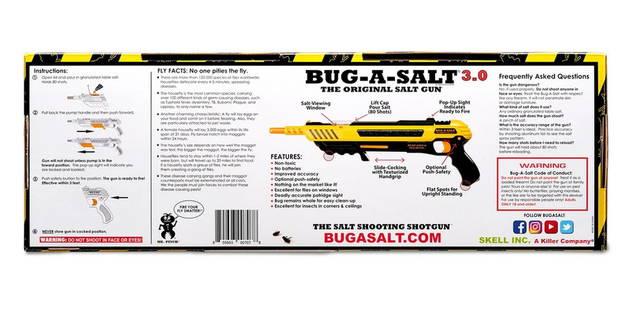 BUG-A-SALT USA Bug-A-Salt Bug a Salt Version 3.0 Flinte Fliegen Jagd Fliegenkiller Bug-A-Salt Salz Schrotflinte Fliegenklatsche Salzgewehr gegen Fliegen Moskito etc...