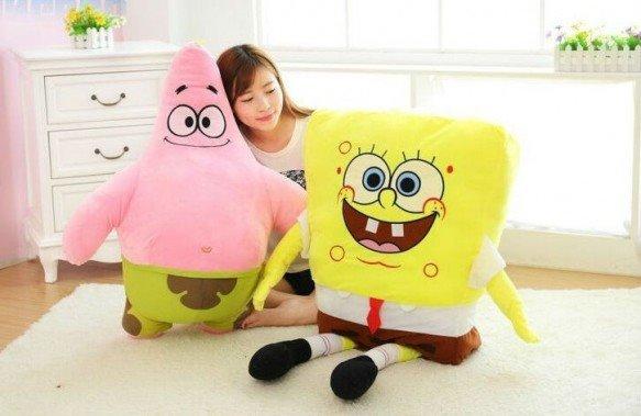 Biete: Spongebob Schwammkopf Sponge Bob 120 cm XXL Plüsch Patrick Seestern 100cm XXL Plüschtier Geschenk / Neu