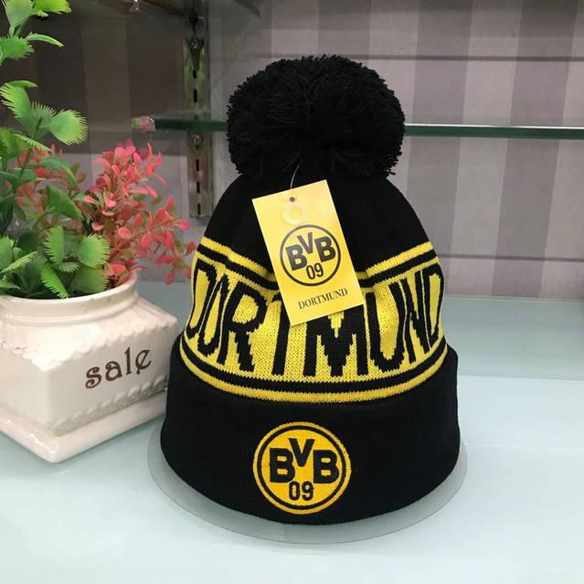 Borussia Dortmund BVB Beanie Cap Mütze Winter Schwarz Gelb Fan Fanshop 2 Farben