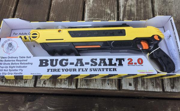 Bug-A-Salt Bug a Salt Version 2.0 Flinte Fliegen Jagd Fliegenkiller Bug-A-Salt Salz Schrotflinte Salzgewehr gegen Insekten Fliegen