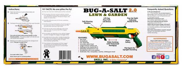 Bug-A-Salt Lawn & Garden 2.0 Salz Insekten Fliegen Gewehr Flingengewehr Flinte - ungiftiger Weg USA HIT Jagd Sommer Männer Spielzeug Garden Rasen
