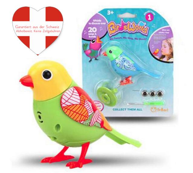 Bunter Vogel Singt Pfeift Lustiges Geschenk Spielzeugvogel mit Pfeifring Geschenk Kind Kinder