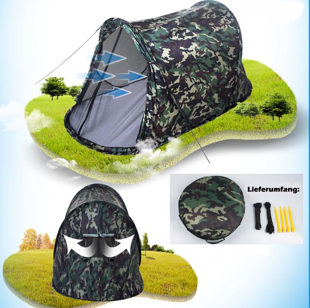 Camouflage Getarntes Militär Wurf Zelt Wurfzelt Pop Up Zelt Camping Festival Jagd Schnell Rapid Openair Popup Zält kleines Packmass