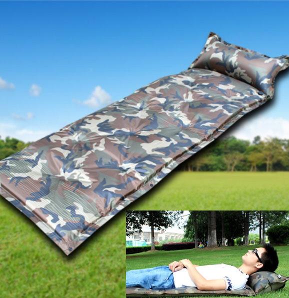 Camouflage Selbstaufblasbare Luftmatratze Schlafmatte Schlafsack Outdoor Openair