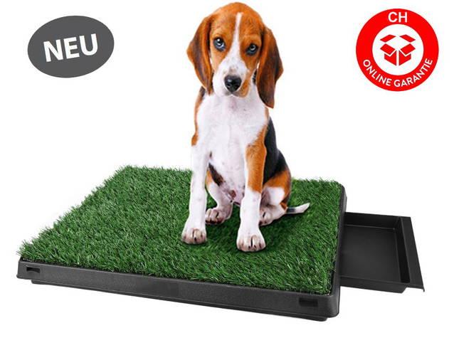 Deluxe Hunde Klo WC Hundeklo Hundewc Welpen Welpenklo Welpentoilette Trainingsgerät mit Behälter Urin Stubenrein