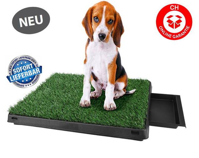 Deluxe Hunde Klo WC Hundeklo Hundewc Welpen Toilette Trainingsgerät Welpentoilette USA Klo HIT mit Sammelbehälter