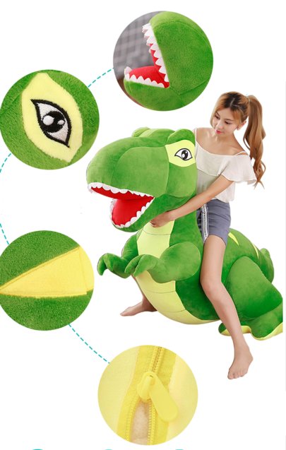 Dinosaurier Plüsch Plüschtier Plüsch Dino XXL 210cm Geschenk Kind Kinder Neu Grün Plüschdino Dinosaur T-Rex