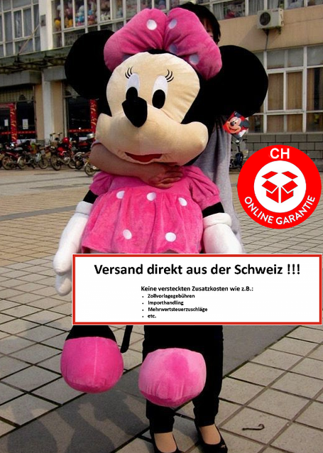 Disney Minnie Maus Plüsch Tier Plüsch Plüschtier Plüschmaus XXL 130-135cm Gross Geschenk Mädchen Pink