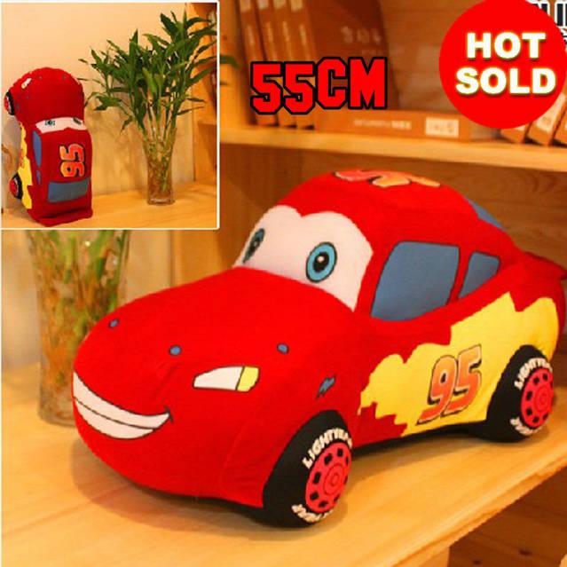 Disney Pixar Cars Lightning McQueen Kuscheltier Plüsch Tier Plüschtier 55cm Geschenk Kino Film Spielzeug Plüschauto