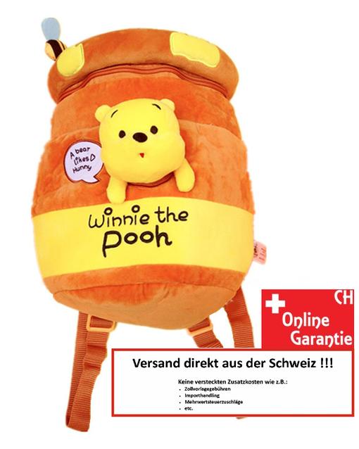 Disney Winnie the Pooh Pu der Bär Kind Kinder Plüsch Rucksack Tasche Schultasche Schulranzen Kindergarten Primarschule Honig Honigbär Fan Schmetterling