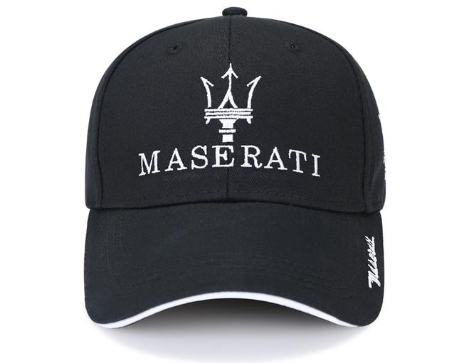 Edle Fan Maserati Cap Mütze Baseballcap Kappe Schwarz Cäpi Accessoire Baumwolle