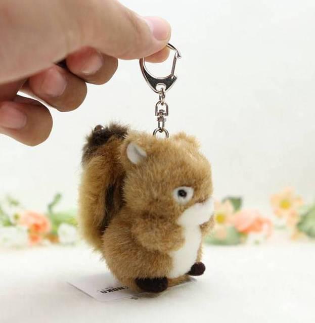 Eichhörnchen Plüsch Schlüssel Anhänger Schlüsselanhänger Geschenk Süss Handgemacht
