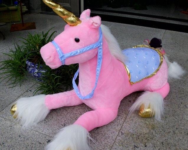 Einhorn Plüschtier Plüsch Pferd Geschenk Kinder Mädchen Unicorn 2 Farben Weiss Rosa Pink XXL