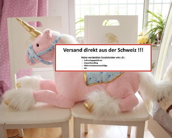 Einhorn Plüschtier Plüsch Pferd Plüschpferd Unicorn Geschenk Kinder Mädchen XXL 110cm