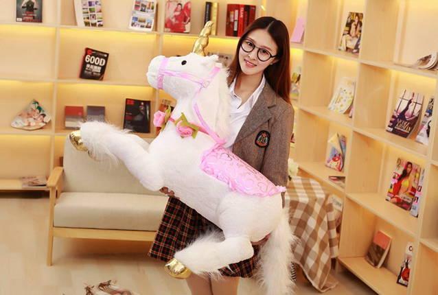 Einhorn XXL Plüsch Plüschtier Kinder Mädchen Geschenk Spielzeug Pferd Unicorn Plüschtier