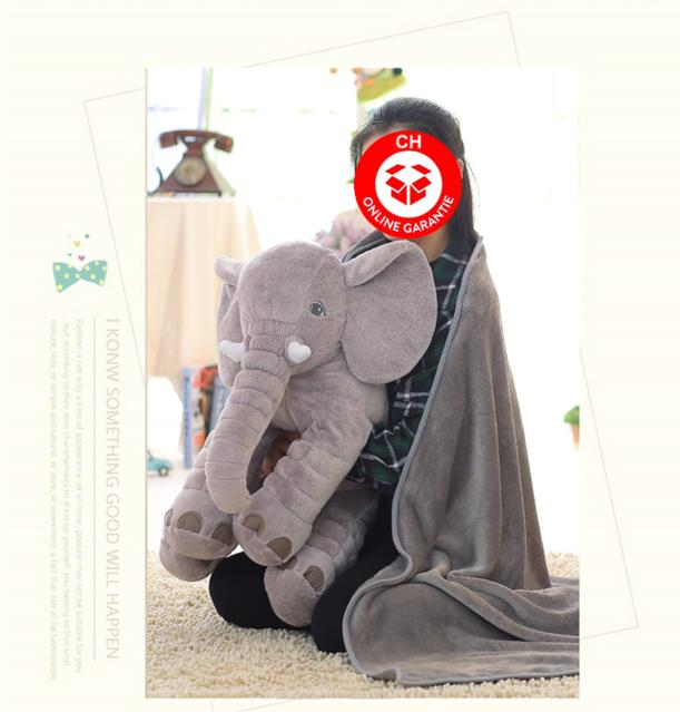 Elefant Elefanten Kissen Elefantenkissen Baby Kind Kinder Kinderzimmer Plüschtier XXL 80cm Geschenk Mutter Mütter