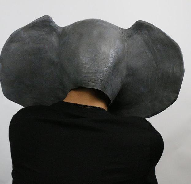 Elefant Kopf Elefanten Tiermaske Latex Vollmaske Kostüm Halloween Lustig Party Cosplay Fasnacht Fasching Masken Unisex Einheitsgrösse Schweiz Kauf