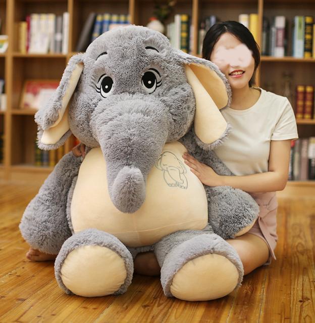 Elefant Plüsch Elefanten Plüschtier XXL Kuscheltier 128cm Geschenk Kind Frau Deko Kinderzimmer
