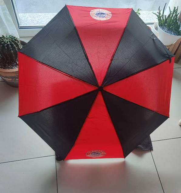 FC Bayern München Fan Regenschirm Taschenschirm Rot Schwarz