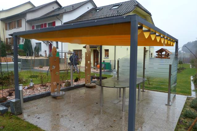 Faltpergola 3x4m, Wetterschutz, Laube, Terrassenüberdachung