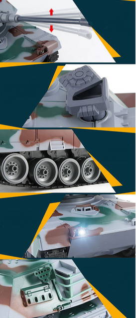 Ferngesteuerter RC Mega Riesen Panzer XXL 83cm Airsoft Softair BB Tank 1:10 Geschenk Modellbau