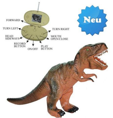 Ferngesteuerter Tyrannosaurus-Rex T-Rex Dino RC Jurassic Park Dinosaurier Spielzeug