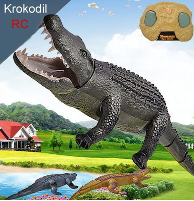 Ferngesteuertes RC Alligator Krokodil 48cm LED + Fernbedienung Spielzeug Kind Kinder