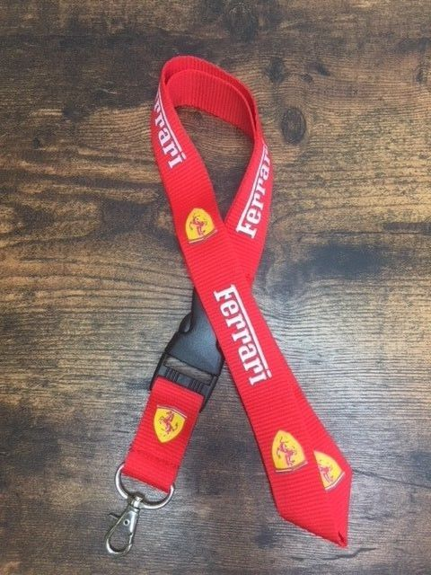 Ferrari Auto Schlüsselband Schlüssel Band Anhänger Schlüsselanhänger Fan mit Schriftzug und Logo