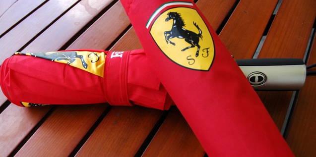 Ferrari Fan Schirm Regenschirm Fanshop Outdoor Automatik